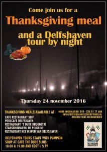 Donderdag 24 november 2016 Thanksgiving in Rotterdam Historisch Delfshaven.